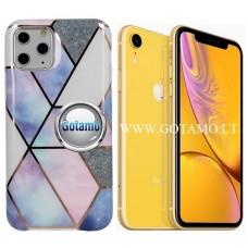 Tiles dėklas nugarėlė Apple iPhone XR telefonams violetinės spalvos