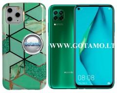 Tiles dėklas nugarėlė Huawei P40 Lite telefonams mėtinės spalvos