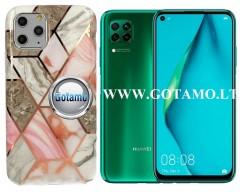 Tiles dėklas nugarėlė Huawei P40 Lite telefonams pilkos spalvos