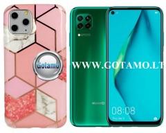 Tiles dėklas nugarėlė Huawei P40 Lite telefonams rožinės spalvos