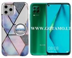 Tiles dėklas nugarėlė Huawei P40 Lite telefonams violetinės spalvos