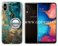 Tiles dėklas nugarėlė Samsung Galaxy A20e telefonams mėlynos spalvos
