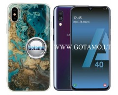 Tiles dėklas nugarėlė Samsung Galaxy A40 telefonams mėlynos spalvos