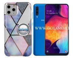 Tiles dėklas nugarėlė Samsung Galaxy A50 telefonams violetinės spalvos