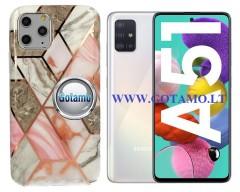 Tiles dėklas nugarėlė Samsung Galaxy A51 telefonams pilkos spalvos
