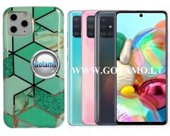 Tiles dėklas nugarėlė Samsung Galaxy A71 telefonams mėtinės spalvos