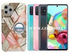 Tiles dėklas nugarėlė Samsung Galaxy A71 telefonams pilkos spalvos