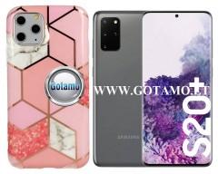 Tiles dėklas nugarėlė Samsung Galaxy S20+ telefonams rožinės spalvos