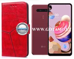 Turtle Dėklas LG K51S mobiliesiems telefonams raudonos spalvos