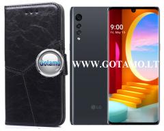 Turtle Dėklas LG Velvet mobiliesiems telefonams juodos spalvos