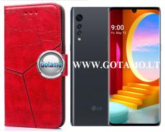 Turtle Dėklas LG Velvet mobiliesiems telefonams raudonos spalvos
