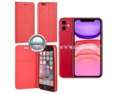 Vennus Diary magnetinis dėklas Apple iPhone 11 telefonams raudonos spalvos
