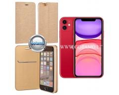 Vennus Diary magnetinis dėklas Huawei P30 telefonams aukso spalvos