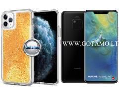 Waterfall dėklas nugarėlė Huawei Mate 20 Pro telefonams aukso spalvos