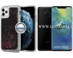Waterfall dėklas nugarėlė Huawei Mate 20 Pro telefonams juodos spalvos su blizgučiais