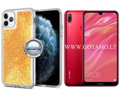 Waterfall dėklas nugarėlė Huawei Y7 (2019) telefonams aukso spalvos