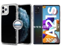 Waterfall dėklas nugarėlė Samsung Galaxy A21s telefonams juodos spalvos