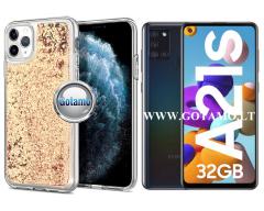 Waterfall dėklas nugarėlė Samsung Galaxy A21s telefonams vario spalvos