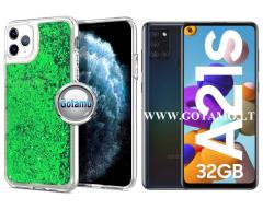 Waterfall dėklas nugarėlė Samsung Galaxy A21s telefonams žalios spalvos