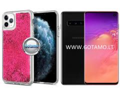 Waterfall dėklas nugarėlė Samsung Galaxy S10 telefonams rožinės spalvos