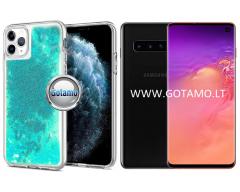 Waterfall dėklas nugarėlė Samsung Galaxy S10 telefonams žydros spalvos