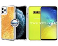 Waterfall dėklas nugarėlė Samsung Galaxy S10e telefonams aukso spalvos