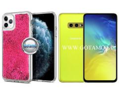 Waterfall dėklas nugarėlė Samsung Galaxy S10e telefonams rožinės spalvos