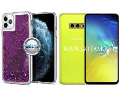 Waterfall dėklas nugarėlė Samsung Galaxy S10e telefonams violetinės spalvos