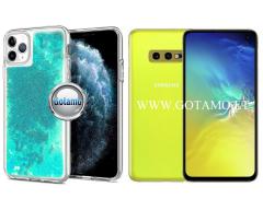 Waterfall dėklas nugarėlė Samsung Galaxy S10e telefonams žydros spalvos