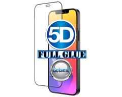 Apsauga ekranui gaubtas grūdintas stiklas Apple iPhone 12 mini mobiliesiems telefonams juodos spalvos 5D pilnas padengimas klijais