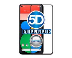 Apsauga ekranui gaubtas grūdintas stiklas Google Pixel 5 mobiliesiems telefonams juodos spalvos 5D pilnas padengimas klijais