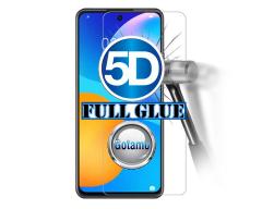 Apsauga ekranui gaubtas grūdintas stiklas Huawei P Smart 2021 mobiliesiems telefonams juodos spalvos 5D pilnas padengimas klijais
