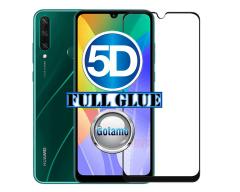 Apsauga ekranui gaubtas grūdintas stiklas Huawei Y6p mobiliesiems telefonams juodos spalvos 5D pilnas padengimas klijais