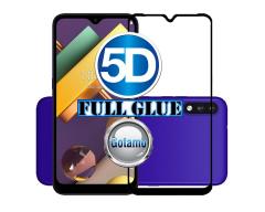 Apsauga ekranui gaubtas grūdintas stiklas LG K22 mobiliesiems telefonams juodos spalvos 5D pilnas padengimas klijais
