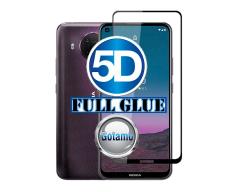 Apsauga ekranui gaubtas grūdintas stiklas Nokia 3.4, Nokia 5.4 mobiliesiems telefonams juodos spalvos 5D pilnas padengimas klijais