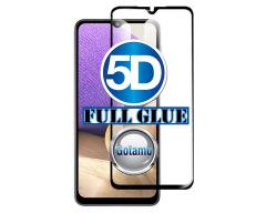 Apsauga ekranui gaubtas grūdintas stiklas Samsung Galaxy A32 5G mobiliesiems telefonams juodos spalvos 5D pilnas padengimas klijais