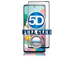 Apsauga ekranui gaubtas grūdintas stiklas Samsung Galaxy A72 mobiliesiems telefonams juodos spalvos 5D pilnas padengimas klijais