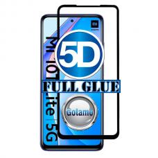 Apsauga ekranui gaubtas grūdintas stiklas Xiaomi Mi 10T Lite 5G mobiliesiems telefonams juodos spalvos 5D pilnas padengimas klijais Telšiai | Kaunas | Vilnius