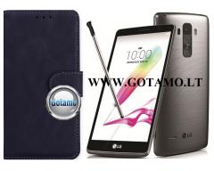 Diary Mate2 dėklas LG G4 Stylus mobiliesiems telefonams juodos spalvos