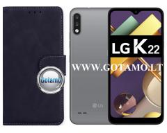 Diary Mate2 dėklas LG K22 mobiliesiems telefonams juodos spalvos