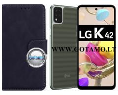 Diary Mate2 dėklas LG K42 mobiliesiems telefonams juodos spalvos