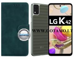 Diary Mate2 dėklas LG K42 mobiliesiems telefonams žalios spalvos