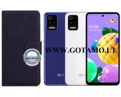 Diary Mate2 dėklas LG K52, LG K62 mobiliesiems telefonams juodos spalvos