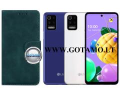 Diary Mate2 dėklas LG K52, LG K62 mobiliesiems telefonams žalios spalvos