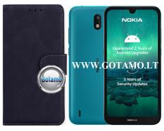 Diary Mate2 dėklas Nokia 1.3 mobiliesiems telefonams juodos spalvos