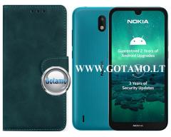 Diary Mate2 dėklas Nokia 1.3 mobiliesiems telefonams žalios spalvos
