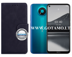 Diary Mate2 dėklas Nokia 3.4, Nokia 5.4 mobiliesiems telefonams juodos spalvos