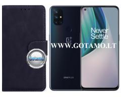 Diary Mate2 dėklas OnePlus Nord N10 5G mobiliesiems telefonams juodos spalvos
