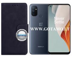 Diary Mate2 dėklas OnePlus Nord N100 mobiliesiems telefonams juodos spalvos