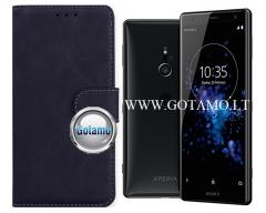Diary Mate2 dėklas Sony Xperia XZ2 mobiliesiems telefonams juodos spalvos